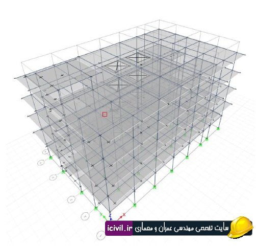 طراحی ساختمان 5 طبقه بتنی