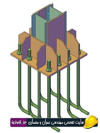 طراحی کف ستون به روش LRFD