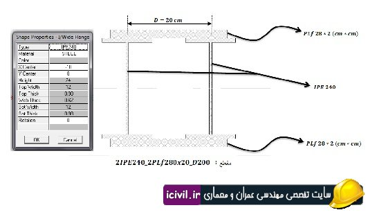 ساخت مقاطع در نرم افزار PROPER