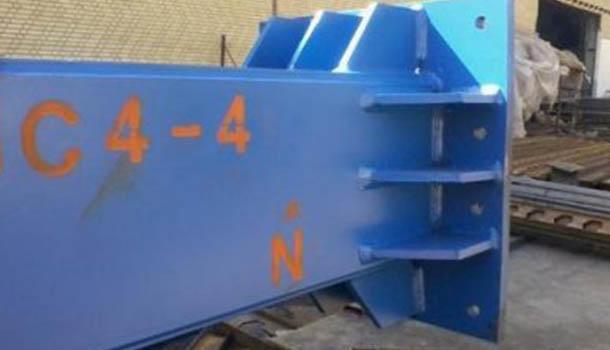كارآموزي عمران كارگاه ساخت اسكلت فلزي