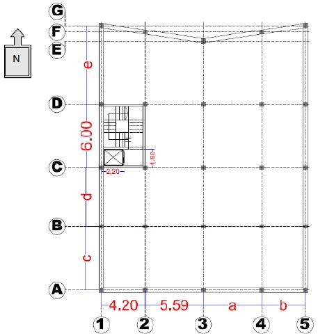 شکل 1 - پلان پروژه ساختمان مفروض